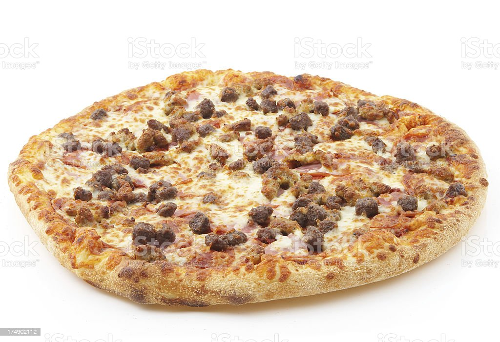 meat lovers pizza #3 royalty-free stock photo