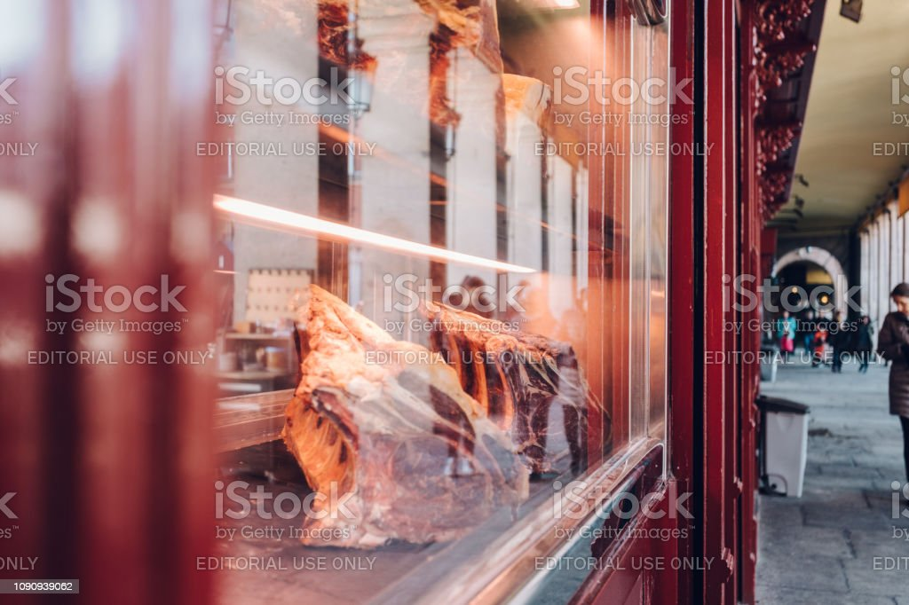 meat market stock photo