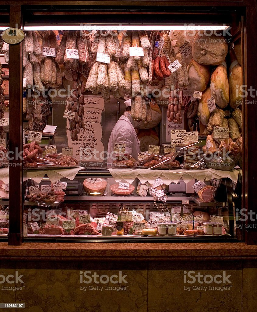 Meat Market stock photo