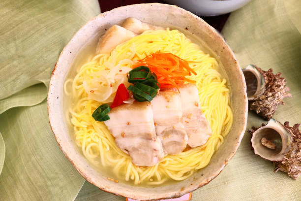 Meat noodles, cuisine, food, Korean food 대한민국 음식이다. seogwipo stock pictures, royalty-free photos & images