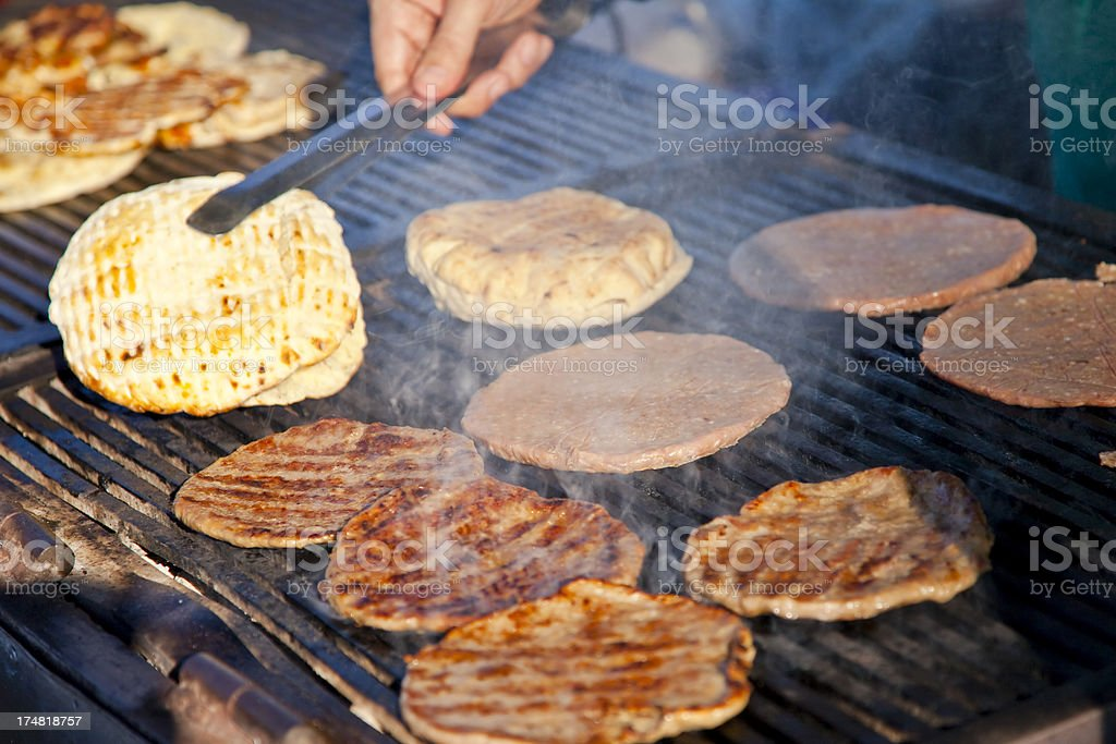 meat on a barbecue grill royalty-free stock photo