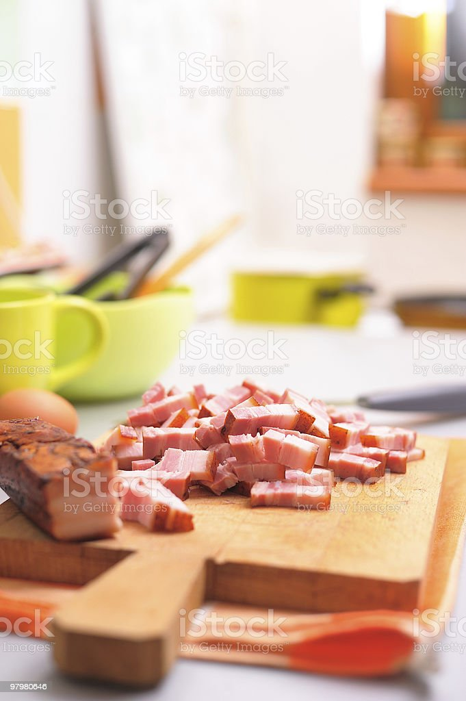 Meat on cutting board royalty-free stock photo