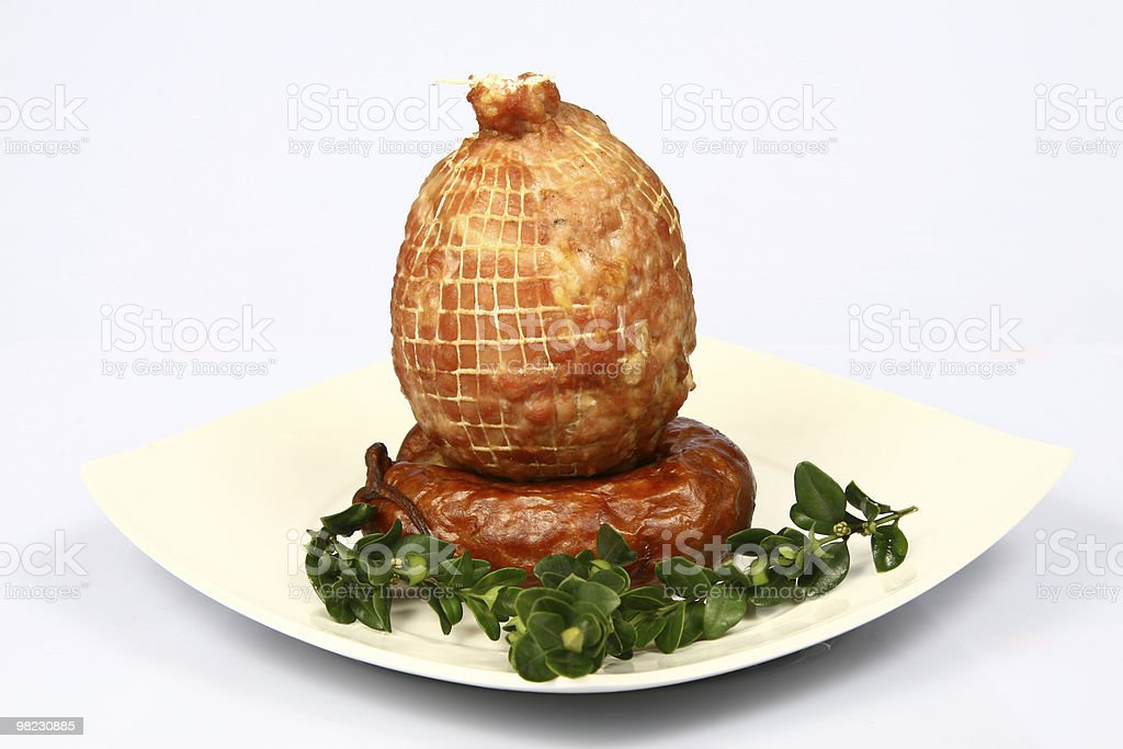 Meat on plate royalty-free stock photo