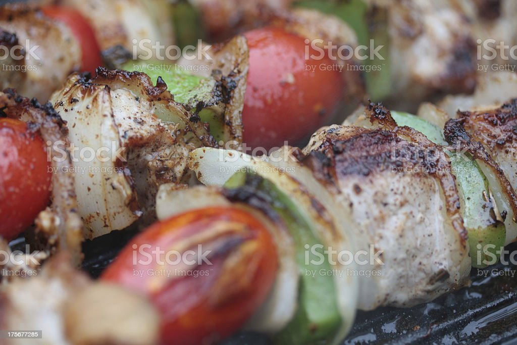 meat on the barbecue royalty-free stock photo
