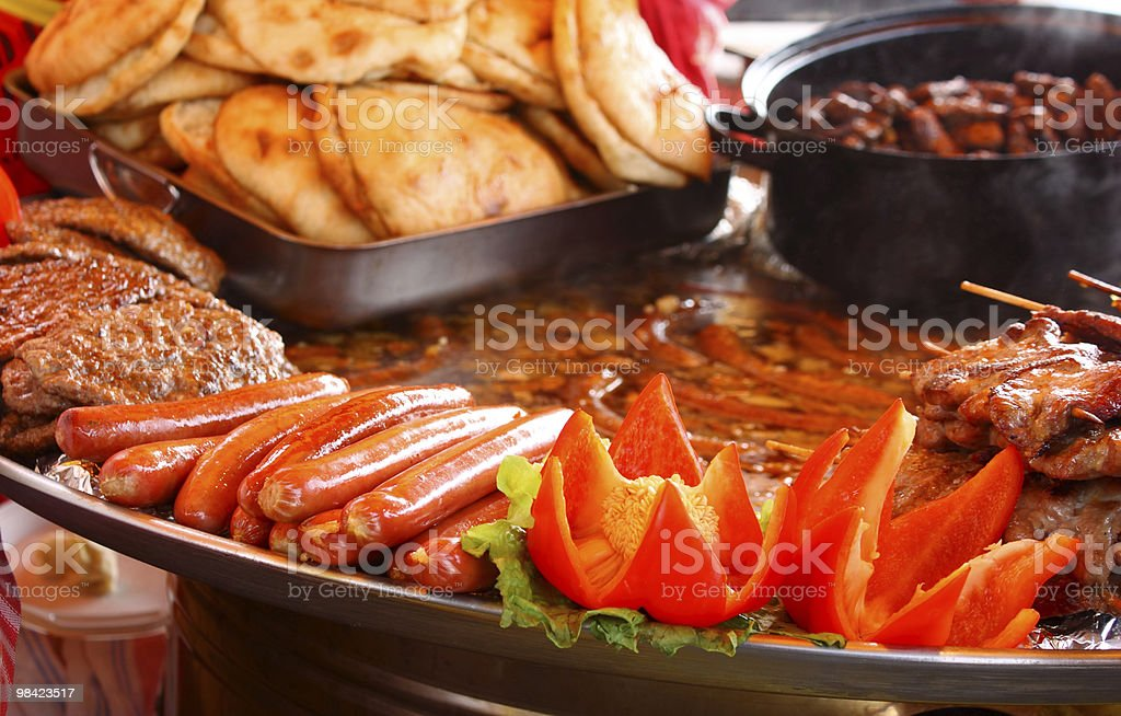 Meat on the grill royalty-free stock photo