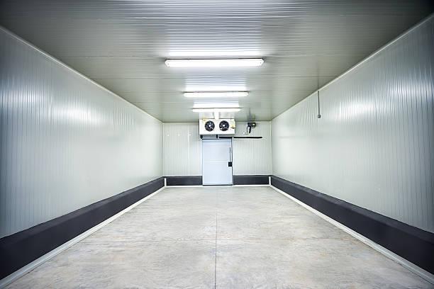 fleisch oder obst bei -30° celsius stauraum - kühlraum stock-fotos und bilder