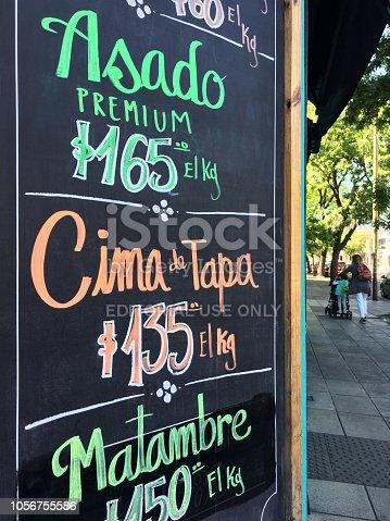 Buenos Aires, Argentina - October 7, 2018: Blackboard