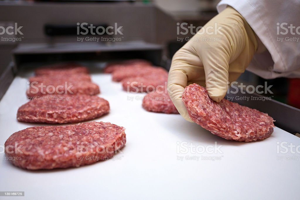 Meat production stock photo