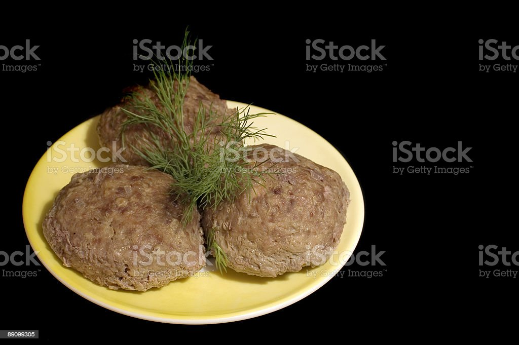 meat rissoles royalty-free stock photo