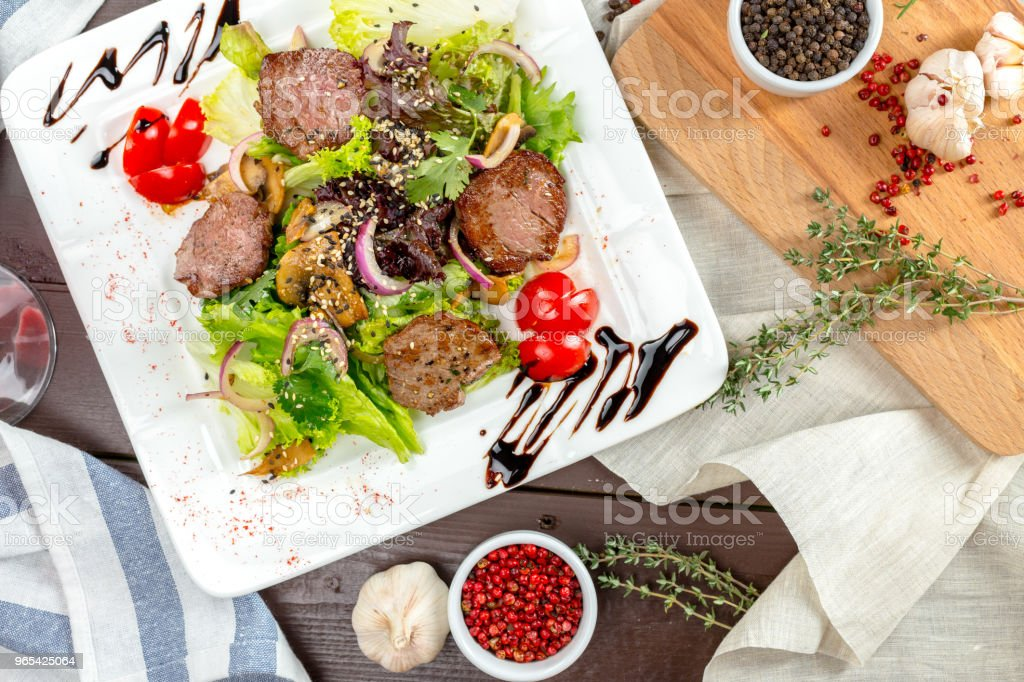 meat salad with vegetable royalty-free stock photo