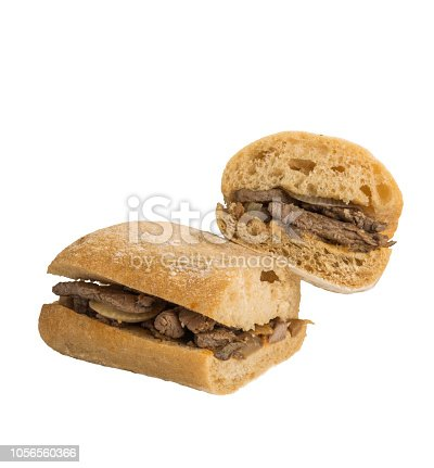 Meat Sandwich Isolated