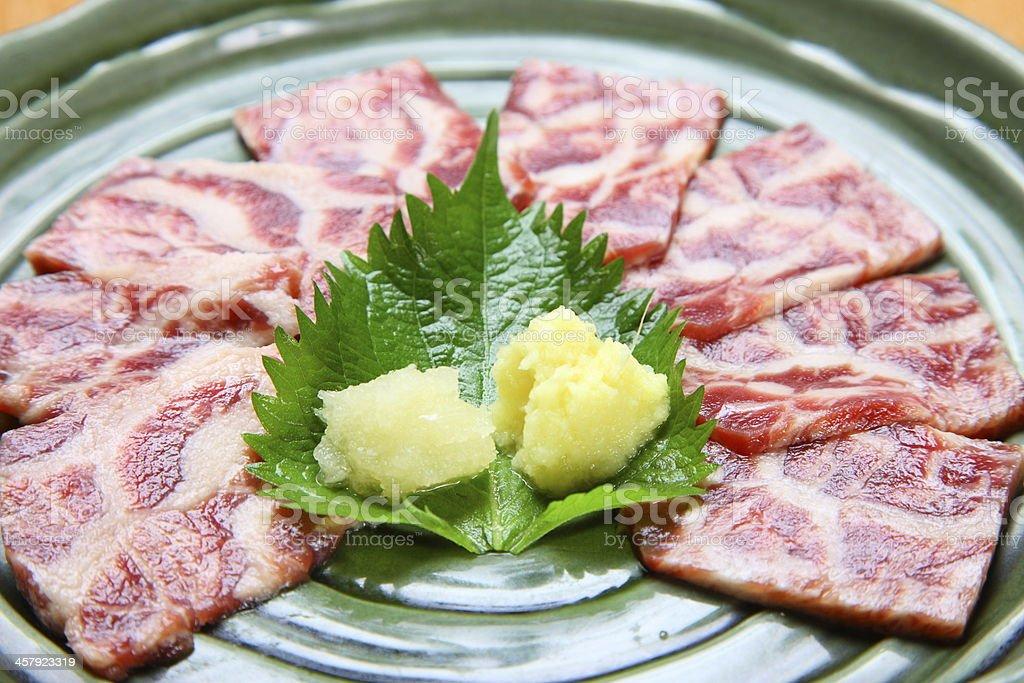 meat sashimi stock photo