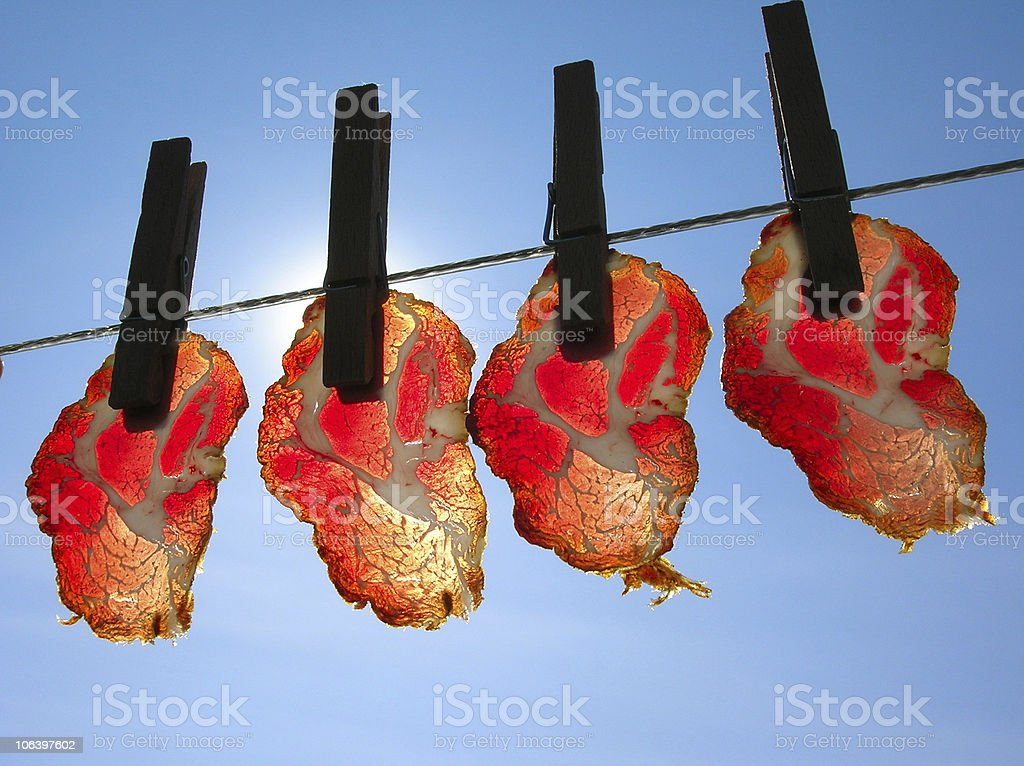 Meat slices royalty-free stock photo