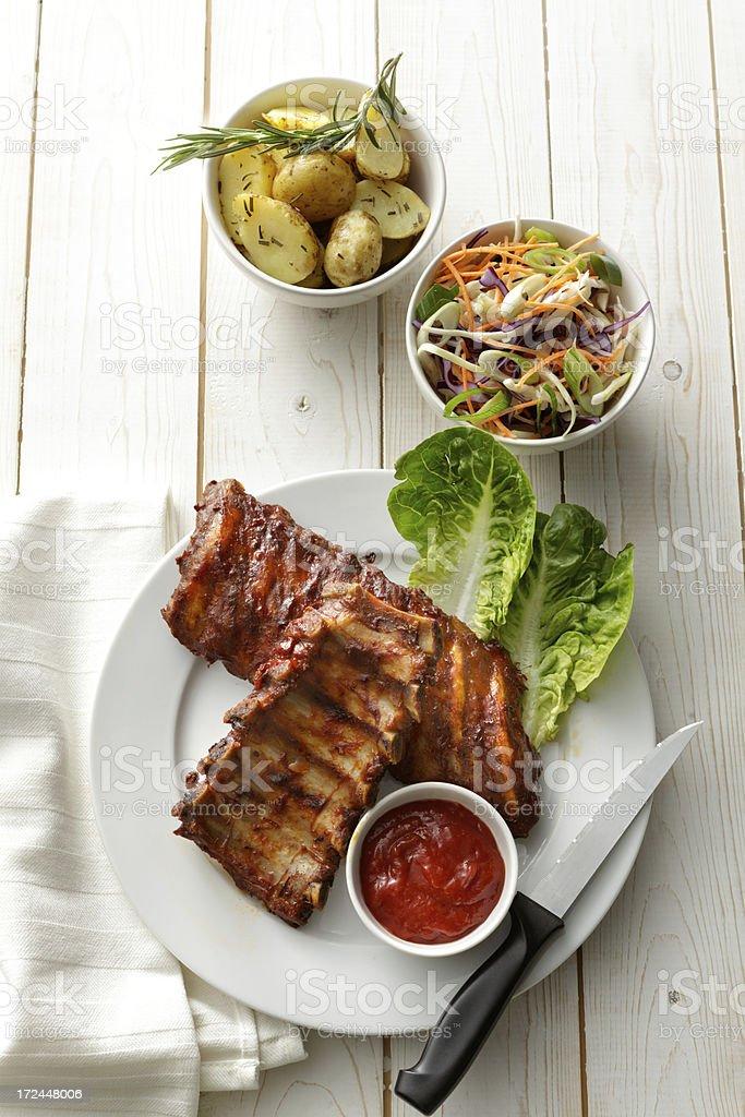 Meat Stills: Spareribs stock photo