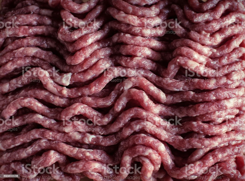 Meat stuffing close-up stock photo