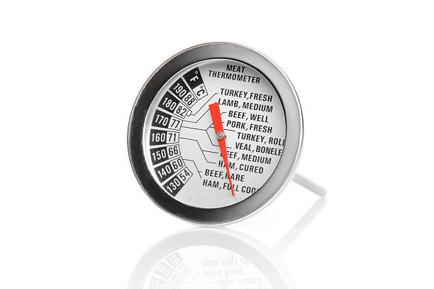 meat thermometer stock photo