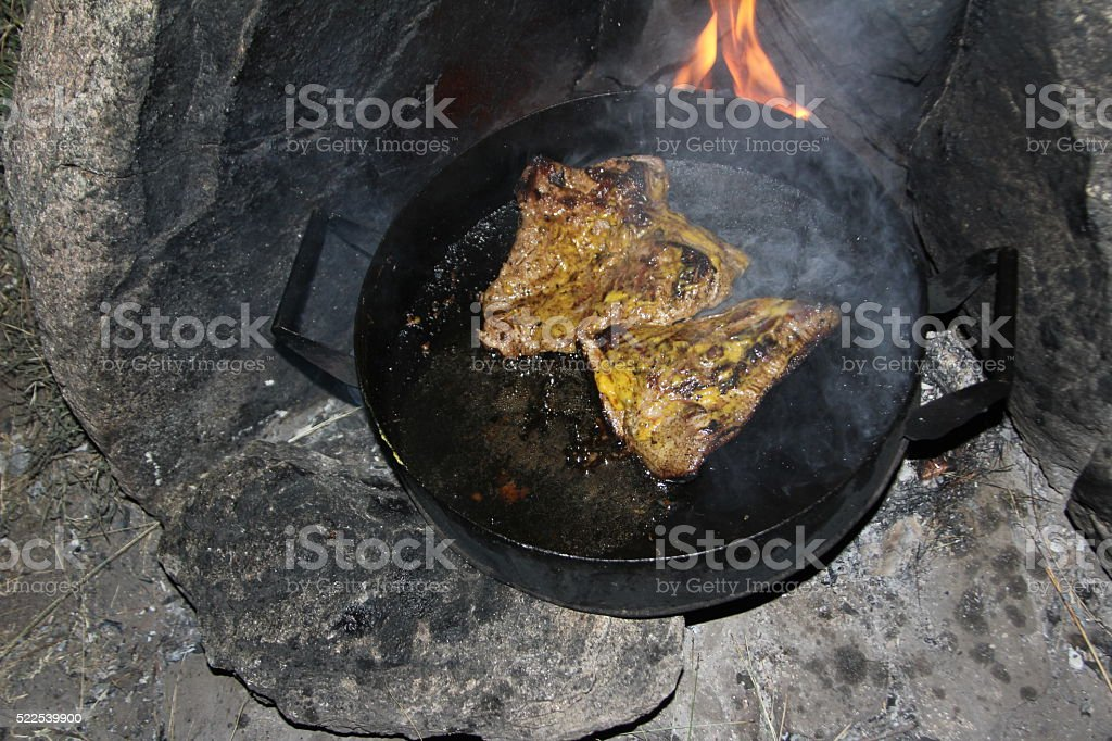 Carne al disco stock photo