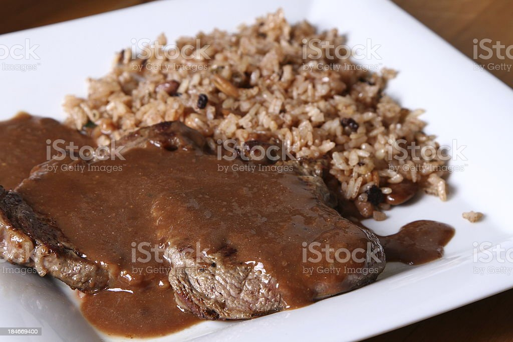 meat with rice royalty-free stock photo