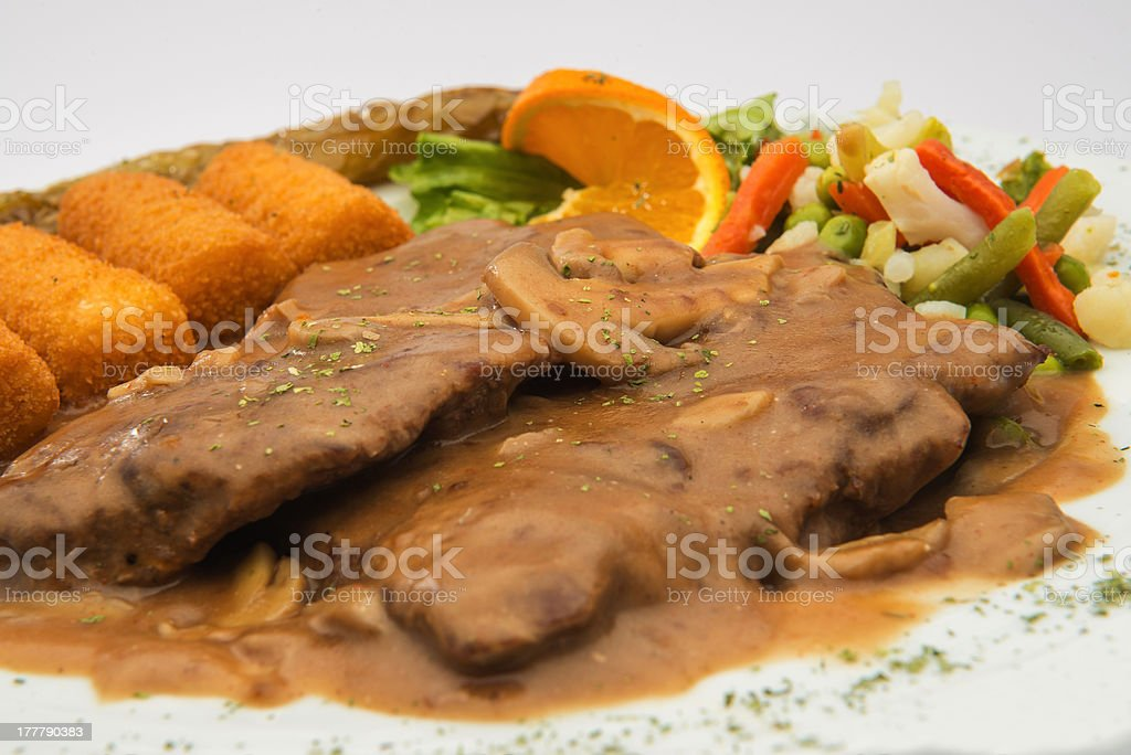Meat with sauce royalty-free stock photo