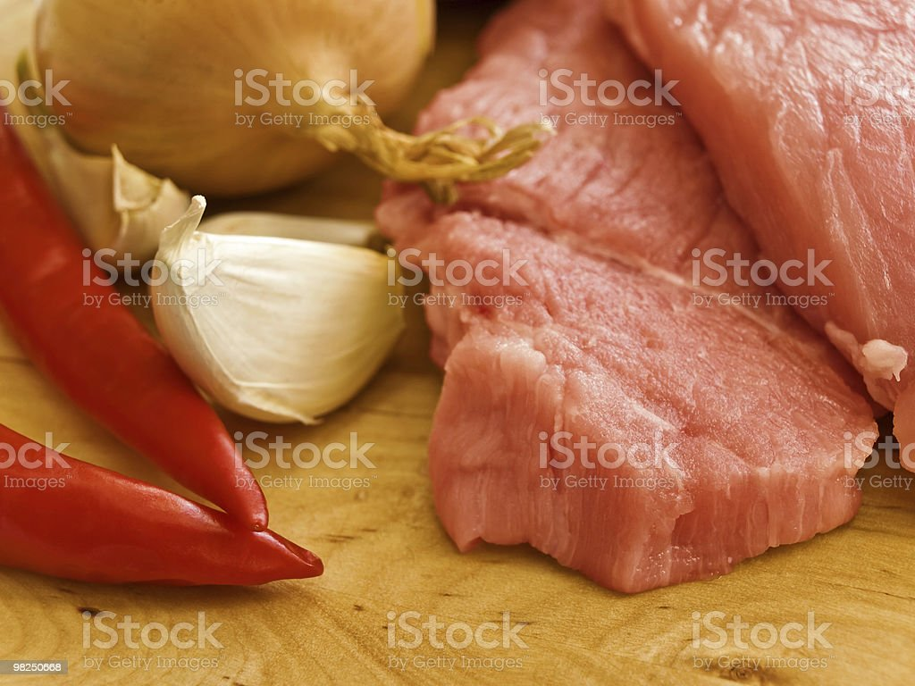 meat with spices royalty-free stock photo