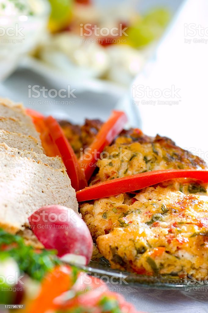 Meat with vegetable royalty-free stock photo