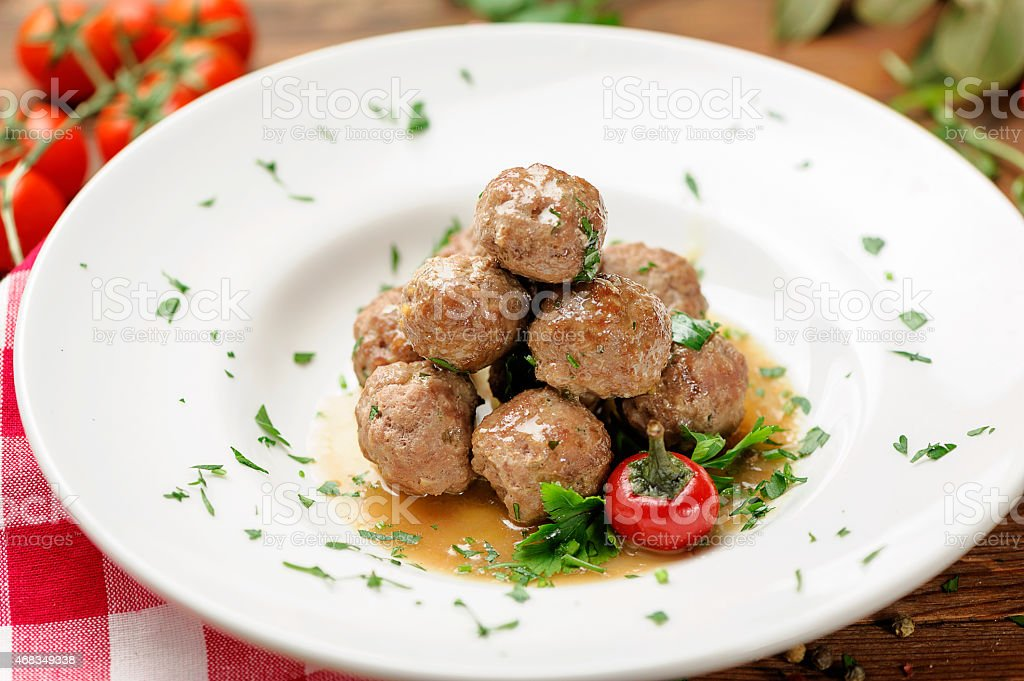 meatball appetizers royalty-free stock photo