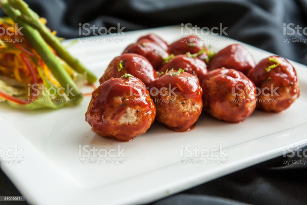 Meatball stock photo