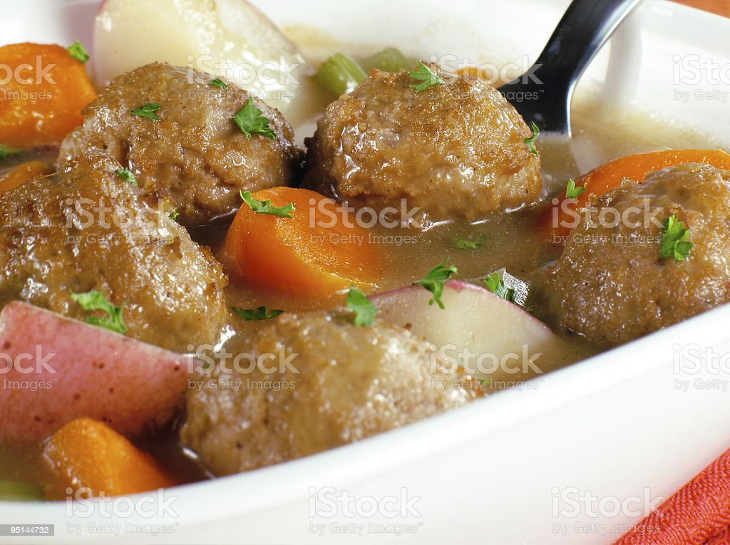 Meatball Stew royalty-free stock photo