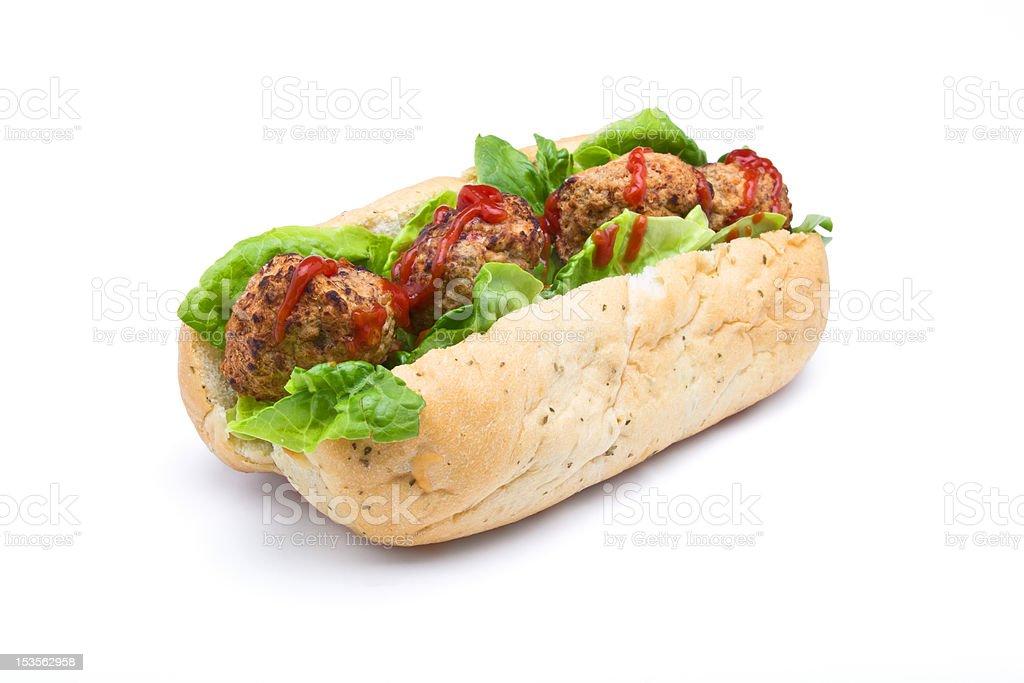 Meatball Sub Sandwich royalty-free stock photo