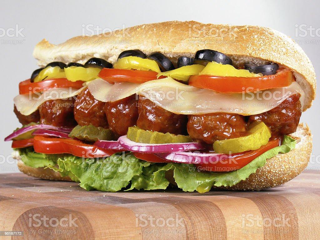 Meatball Sub Sandwich stock photo