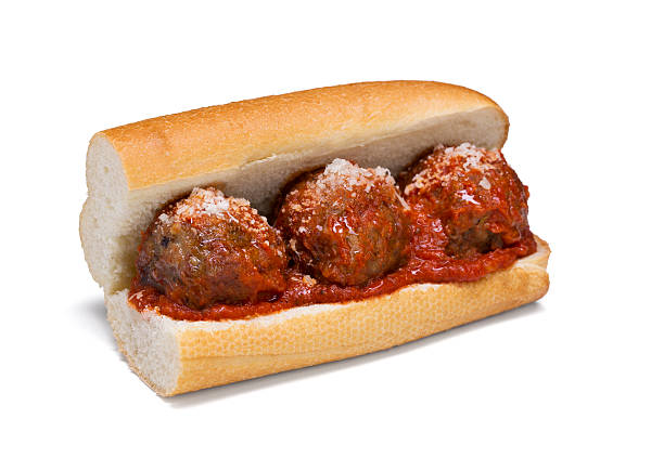 Meatball Sub with cheese and marinara sauce A 6