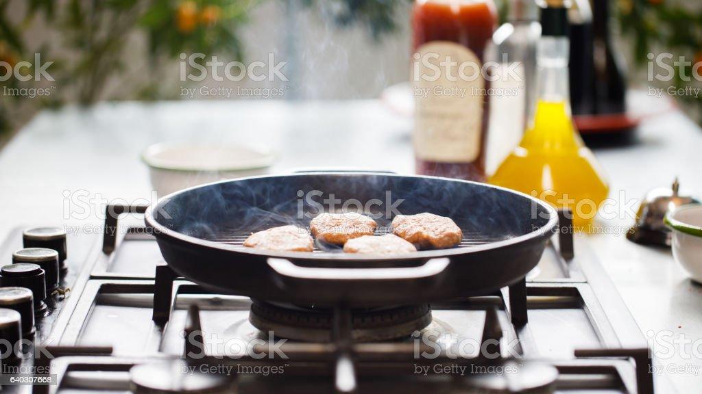 Meatballs cooked stock photo