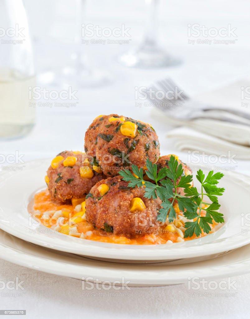 Boulettes de viande photo libre de droits