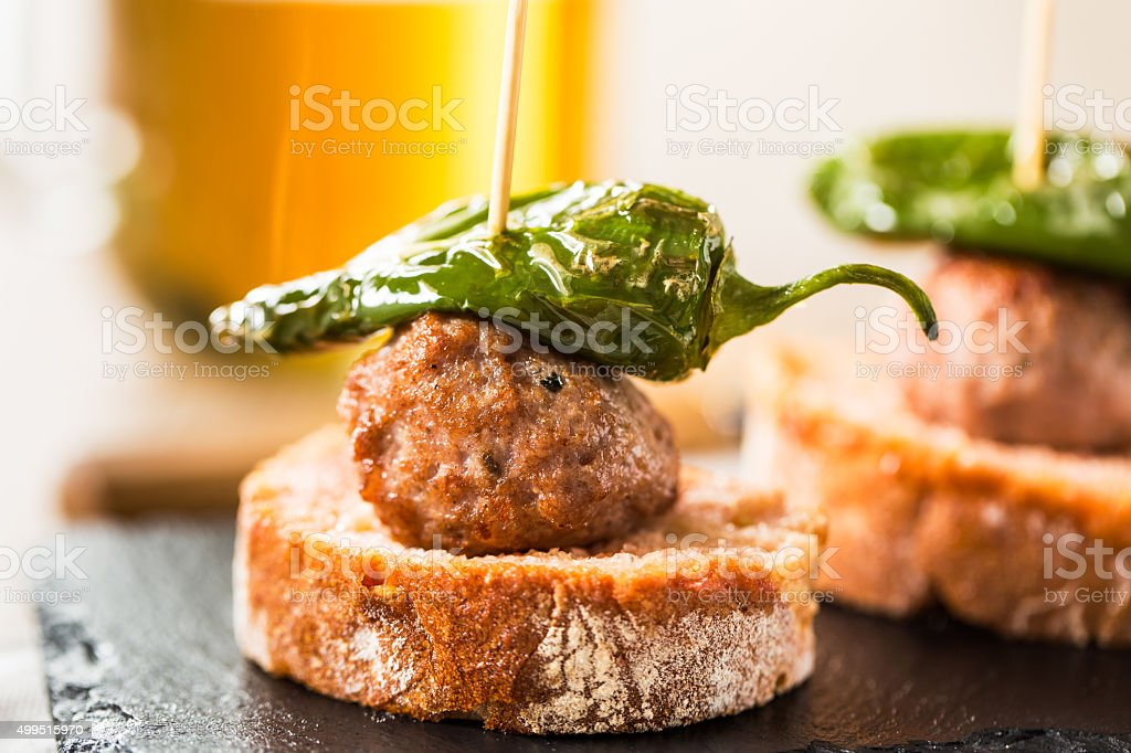 Meatballs tapas royalty-free stock photo