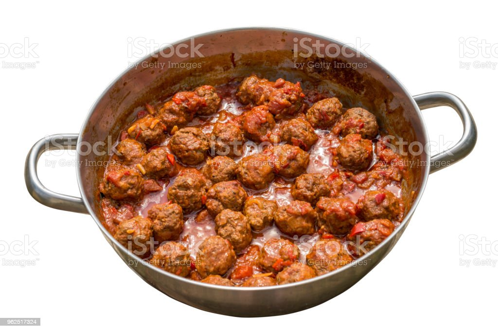 Meatballs with tomato sauce in a pan - Royalty-free Appetizer Stock Photo