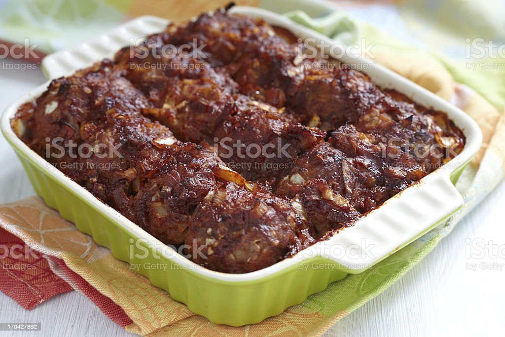 Meatballs with tomato sauce royalty-free stock photo