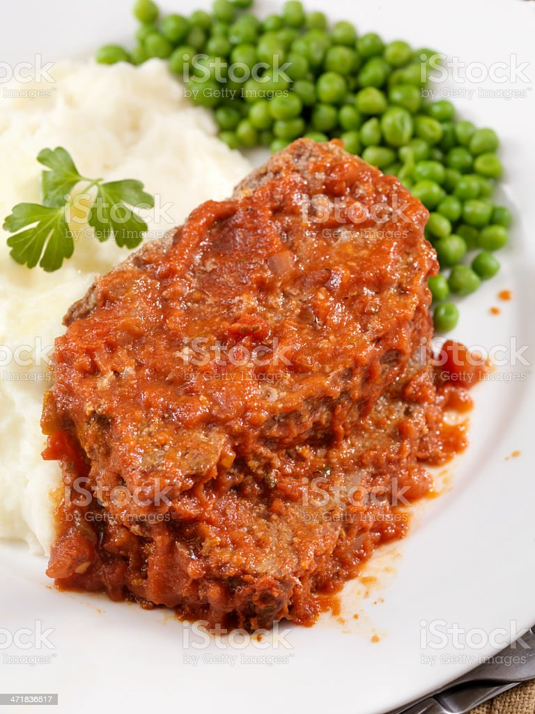 Meatloaf Baked In Tomato Sauce royalty-free stock photo