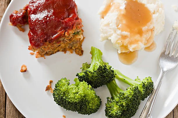 Meatloaf Dinner stock photo
