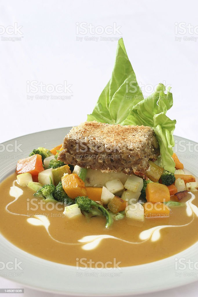 Meatloaf meal royalty-free stock photo