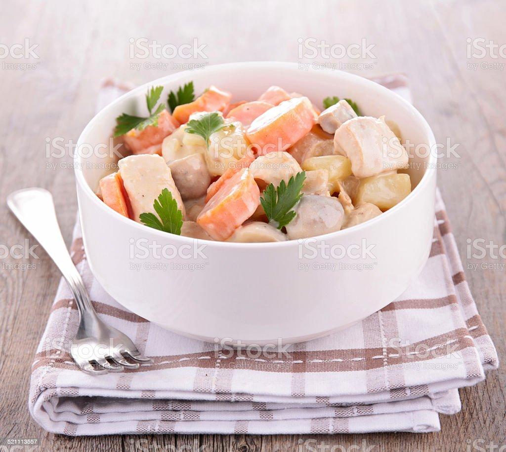 La viande, des légumes et de crème - Photo