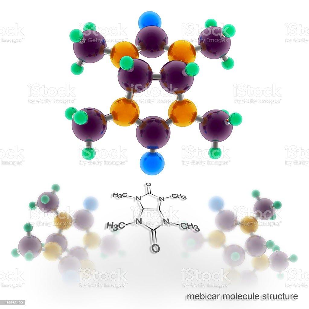 mebicar molecule structure stock photo