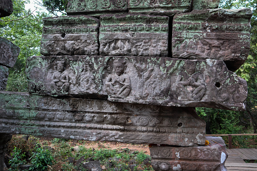 Beautiful and mysterious Hindu temple at Banteay Meanchey province.