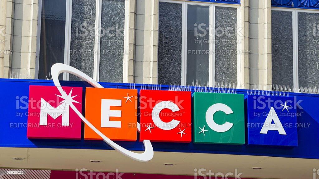 Mecca Bingo - sign stock photo