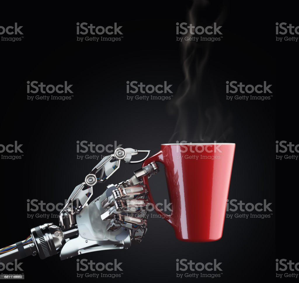 Mech hand koffie foto