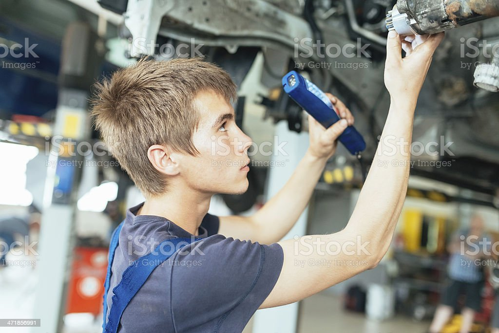 Mechanic at Work, Car Service stock photo