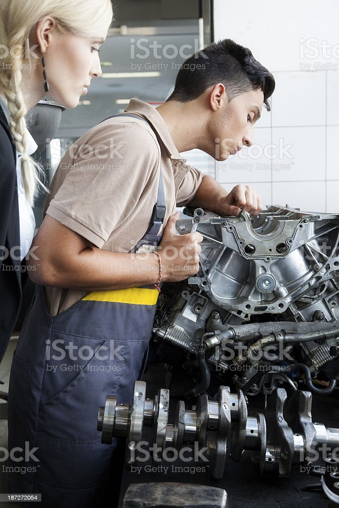 Mechanic at work. royalty-free stock photo