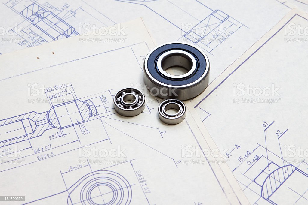 Mechanic blueprint detail royalty-free stock photo
