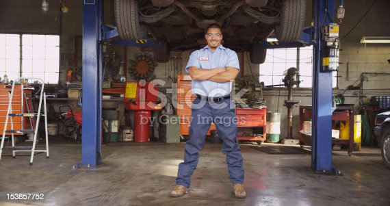 istock A mechanic in a large repair shop 153857752