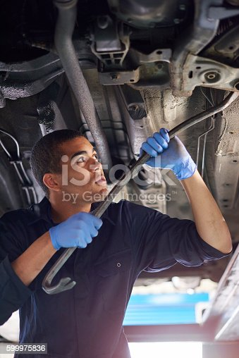 599909112 istock photo Mechanic in action 599975836