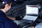 istock Mechanic is repairing vehicle at car service station 1167987867